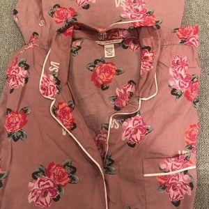 Victoria Secret Button Down Pajamas